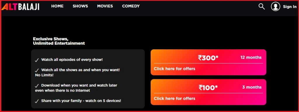 altbalaji shows for free